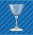 cocktail glass concept background realistic style vector image