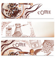 coffee backgrounds set vector image