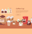 coffee house concept banner flyer vector image