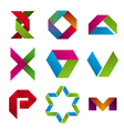 Collection of abstract icons of tape vector image vector image