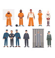 colorful collection of male and female prisoners vector image vector image