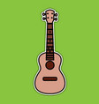 concert ukulele - hawaiian string musical vector image vector image