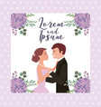 couple wedding card vector image vector image