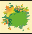 decorative autumn frame with leaves vector image