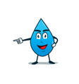 drop of water character vector image