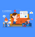 e-learning online education concept vector image