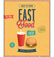 fast foo2 vector image vector image