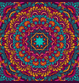 festive seamless pattern doodle mandala vector image
