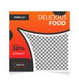 food offer social media banner template design vector image vector image