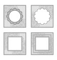 four square frames for color book or other design vector image vector image