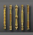 gold door handles in baroque style classic knobs vector image