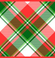 green bright madras plaid seamless fabric texture vector image vector image