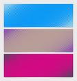 halftone dot pattern horizontal banner - graphic vector image vector image