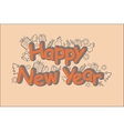 Happy New Year Card in brown tone vector image