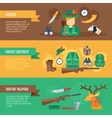 Hunting Banner Set vector image vector image