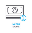 income share concept outline icon linear sign vector image vector image