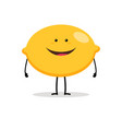 lemon cartoon character vector image vector image