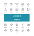 line icons set casino vector image