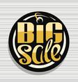 logo for big sale vector image