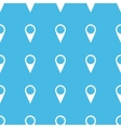 Map marker straight pattern vector image vector image
