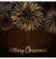 Merry Christmas firework background vector image vector image
