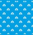 mining helmet pattern seamless blue vector image vector image