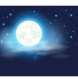 Night sky with a full moon vector image