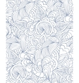 pattern with abstract flowersleaves and lines vector image vector image