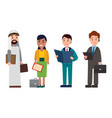 people business collection vector image vector image
