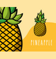 pineapples fruit tropical fresh natural on colored vector image