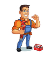 Plumber Mascot vector image vector image
