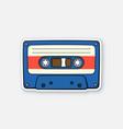retro audio cassette vector image