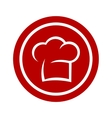 round icon with chef hat vector image