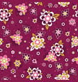 seamless pattern with decorative flowers seamless vector image vector image