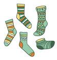 set bright socks vector image vector image