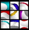 Set of abstract metallic backgrounds vector image