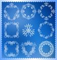 Set of Christmas frames Monogram design elements vector image vector image