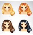 Set Of Long Loose Hair Styling vector image vector image