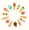 Set of tasty ice cream vector image vector image
