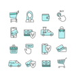 Shopping and Ecommerce Web Store Icons Set vector image vector image