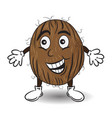 smiling coconut vector image