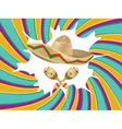 Sombrero and Maracas vector image