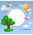 Summer round background vector image
