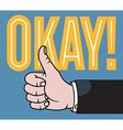 Thumbs up hand vector image vector image