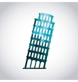 Tower of pisa icon Italy culture design vector image