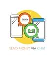 Transferring money via chat vector image vector image