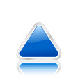 triangular icon blue vector image vector image