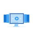 video tutorials icon concept online webinar vector image