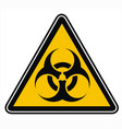 warning biohazard sign or symbol vector image