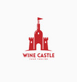 wine castle logo vector image vector image